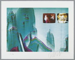 Nam June Paik (American, born Korea, 1932-2006). Triangle, Trinity, 1998. Screenprint, off-set lithograph, collage, each sheet:  15 3/4 x 19 3/4  in. (40.0  x 50.2 cm); . Brooklyn Museum, Robert A. Levinson Fund, 1998.154a-c. © artist or artist's estate