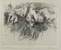 Jack Levine (American, 1915-2010). The White Horse, 1962. Etching, Image: 7 13/16 x 9 11/16 in. (19.8 x 24.6 cm). Brooklyn Museum, Gift of Peter R. Blum, 1998.191.8. © artist or artist's estate
