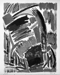 Francois Willi  Wendt (French, 1909-1970). Untitled, 1953. Lithograph on paper, sheet: 15 11/16 x 12 7/8 in. (39.8 x 32.7 cm). Brooklyn Museum, Gift of Philip Gould, 1998.192.12. © artist or artist's estate