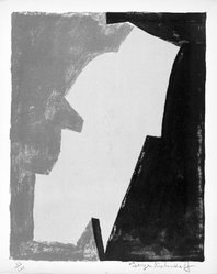 Serge Poliakoff (French, 1900-1969). Untitled, 1953. Lithograph on paper, sheet: 15 3/4 x 12 7/8 in. (40 x 32.7 cm). Brooklyn Museum, Gift of Philip Gould, 1998.192.8. © artist or artist's estate