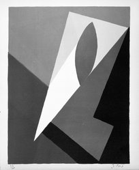 Jean Pons (French, born 1913). Untitled, 1953. Lithograph on paper, sheet: 15 3/4 x 12 15/16 in. (40 x 32.9 cm). Brooklyn Museum, Gift of Philip Gould, 1998.192.9. © artist or artist's estate