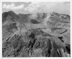 Frank Gohlke (American, born 1942). Aerial View: Looking  South at Mt. St. Helen's Crater and Iowa Dome, 1981, printed later. Gelatin silver photograph, image: 13 x 15 3/4 in. (33 x 40 cm). Brooklyn Museum, Gift of Robert L. Smith and Patricia L. Sawyer, 1999.127.2. © artist or artist's estate