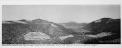 Frank Gohlke (American, born 1942). Looking North Up Clearwater, Creek Valley, 1982. Gelatin silver photograph, image: 6 3/4 x 19 in. (17.1 x 48.3 cm). Brooklyn Museum, Gift of Robert L. Smith and Patricia L. Sawyer, 1999.127.3. © artist or artist's estate