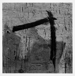 Aaron Siskind (American, 1903-1991). Lima 89 (Homage to Franz Kline), 1975. Gelatin silver photograph, Image: 14 x 14 in.  (35.6 x 35.6 cm). Brooklyn Museum, Gift of Robert L. Smith and Patricia L. Sawyer, 1999.127.8. © Aaron Siskind Foundation