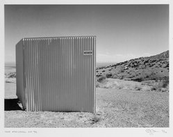 Eddie Dayan (British, born Egypt, 1943). Near Alamogordo, NM, 1992. Gelatin silver photograph, image: 9 5/8 x 12 7/8 in. (24.4 x 32.7 cm). Brooklyn Museum, Gift of the artist, 1999.18.3. © artist or artist's estate