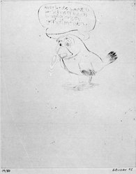 Daniel Richter. Little Doggy, 1995. Drypoint etching, Sheet: 15 1/16 x 12 9/16 in. (38.3 x 31.9 cm). Brooklyn Museum, Gift of Feature Inc., 1999.34.8. © artist or artist's estate