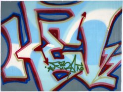 Randy Rodriguez aka Kel 1st (American, born 1963). Son of Kel, 1984. Spray paint on canvas, 53 x 70 in.  (134.6 x 177.8 cm). Brooklyn Museum, Gift of Carroll Janis and Conrad Janis, 1999.57.19. © artist or artist's estate