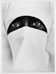 Chester Higgins Jr. (American, born 1946). A Young Muslim Woman in Brooklyn, 1990, Printed 1998. Toned gelatin silver photograph, Sheet: 24 x 20 in. (61 x 50.8 cm). Brooklyn Museum, Purchased with funds given by Karen B. Cohen in memory of Gilbert Millstein, 1999.86. © artist or artist's estate