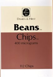 Damien Hirst (British, born 1965). Beans Chips, 1999. Screenprint in 13 parts, 60 1/8 x 39 7/8 in.  (152.7 x 101.3 cm). Brooklyn Museum, Gift of the Prints and Photographs Council, Alfred T. White Fund, Emily Winthrop Miles Fund, and Mary Smith Dorward Fund, 2000.110i. © artist or artist's estate