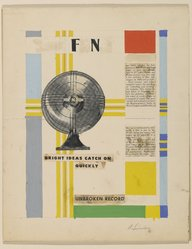 Albert Swinden (American, Born England, 1901-1961). Advertisement for General Electric, ca. 1946. Magazine and newsprint collage with paint, Sheet: 12 x 9 1/8 in. (30.5 x 23.2 cm). Brooklyn Museum, Gift of Martin and Harriette Diamond, 2000.111. © artist or artist's estate