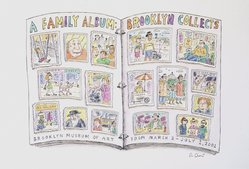 Roz Chast (American, born 1954). Brooklyn Collects, 2001. Ink and watercolor on paper, 9 1/2 x 12 in. (24.1 x 30.5 cm). Brooklyn Museum, A. Augustus Healy Fund, 2001.17.1. © artist or artist's estate