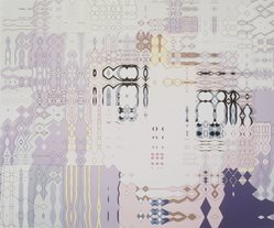 Carl Fudge (British, born 1963). Rhapsody Spray (3), 2000. Screenprint on paper, 52 1/2 x 62 1/2 in.  (133.4 x 158.8 cm). Brooklyn Museum, Alfred T. White Fund, 2001.66. © artist or artist's estate