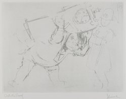 Jack Levine (American, 1915-2010). A Wedding Gift, 1963. Soft-ground etching, Image: 8 13/16 x 11 11/16 in. (22.4 x 29.7 cm). Brooklyn Museum, Gift of the artist, 2002.53.5. © artist or artist's estate