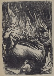 Leopoldo Méndez (Mexican, 1902-1969). En Nombre de Cristo, 1939. Lithograph, 14 x 9 1/2 in. (35.6 x 24.1 cm). Brooklyn Museum, Bequest of Richard J. Kempe, 2003.41.7a-g. © artist or artist's estate