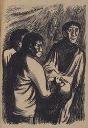 Leopoldo Méndez (Mexican, 1902-1969). En Nombre de Cristo, 1939. Lithograph, 14 x 9 1/2 in. (35.6 x 24.1 cm). Brooklyn Museum, Bequest of Richard J. Kempe, 2003.41.8a-g. © artist or artist's estate