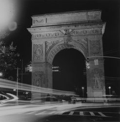 Ileane Bernstein Naprstek (American, born 1956). Washington Square Arch, Night Lights from the series Landmarks, 1995. Gelatin silver photograph, Sheet: 20 x 15 3/4 in. (50.8 x 40 cm). Brooklyn Museum, Gift of the artist, 2003.63.3. © artist or artist's estate