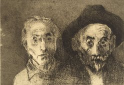 Raphael Soyer (American, born Russia, 1899-1987). Self Portraits Both Young/Old, 1978. Etching, Sheet: 11 x 15 in. (27.9 x 38.1 cm). Brooklyn Museum, Gift of Barbara Sorini in memory of Emiliano Sorini, 2003.78.3. © Estate of Raphael Soyer
