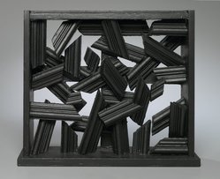 Dan Cavaliere. Untitled, ca. 1989. Wood, black paint, 12 1/2 x 14 x 3 in. Brooklyn Museum, Gift of The Beatrice and Samuel A. Seaver Foundation, 2004.30.5. © artist or artist's estate