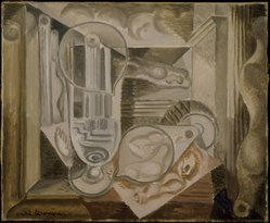 André Masson (French, 1896-1987). Glasses and Architectures (Verres et architectures), 1924. Oil on canvas, 15 x 18 in. (38.1 x 45.7 cm). Brooklyn Museum, Gift of The Beatrice and Samuel A. Seaver Foundation, 2004.37.3. © artist or artist's estate