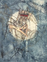 Roberto Matta (Chilean, 1911-2002). Untitled. Etching, plate: 13 1/2 x 10 in. Brooklyn Museum, Gift of The Beatrice and Samuel A. Seaver Foundation, 2004.48.10. © artist or artist's estate