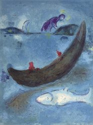 Marc Chagall (French, born Russia, 1887-1985). The Dead Dolphin from Daphnis and Chloe, 1961. Lithograph, 16 1/2 x 12 1/2 in. Brooklyn Museum, Gift of The Beatrice and Samuel A. Seaver Foundation, 2004.48.3. © artist or artist's estate