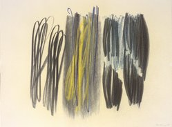 Hans Hartung (French, born Germany, 1904-1989). Composition, 1958. Crayon on paper, 19 x 25 in. Brooklyn Museum, Gift of The Beatrice and Samuel A. Seaver Foundation, 2004.48.6. © artist or artist's estate