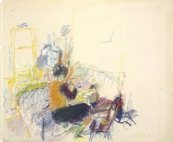 Wolf Kahn (American, born 1927). Untitled, n.d. Pastel and crayon on paper, 13 15/16 x 16 15/16 in. (35.4 x 43 cm). Brooklyn Museum, Gift of The Beatrice and Samuel A. Seaver Foundation, 2004.48.7. © artist or artist's estate