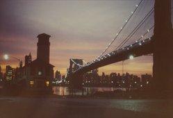Benjamin Attas (American, born 1921). Brooklyn Bridge [Street Lamp], 1972. Chromogenic photograph, 9 5/16 x 13 3/4 in. (23.7 x 34.9 cm). Brooklyn Museum, Gift of the artist, 2004.64.1. © artist or artist's estate