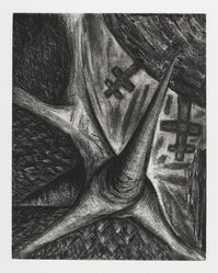 Bill Jensen (American, born 1945). For Denial, 1986-1988. Etching, 24 x 19 in. (61 x 48.3 cm). Brooklyn Museum, Gift of Nancy and Arnold Smoller, 2005.46.5. © artist or artist's estate