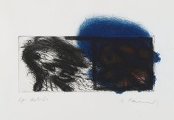 Arnulf Rainer (Austrian, born 1929). Zwei Kopfe  (Two Heads), 1969. Etching, Mat: 16 x 22 in. (40.6 x 55.9 cm). Brooklyn Museum, Gift of Nancy and Arnold Smoller, 2005.46.6. © artist or artist's estate