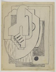 Blanche Lazzell (American, 1879-1956). Sketch for Abstract Composition, 1924. Graphite on cream, thin, smooth paper., Sheet: 10 13/16 x 8 1/2 in. (27.5 x 21.6 cm). Brooklyn Museum, Gift of Dr. Abram Kanof and Theodore Keel, by exchange, Charles Stewart Smith Memorial Fund, and Dick S. Ramsay Fund, 2006.43.8. © Estate of Blanche Lazzell