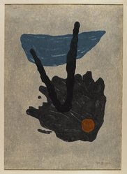 Yamaguchi Gen (Japanese, 1903-1976). Retribution, 1960. Woodblock print, Other (Sight): 25 3/4 x 18 9/16 in. (65.4 x 47.1 cm). Brooklyn Museum, Gift of the Estate of Dr. Eleanor Z. Wallace, 2007.32.133. © artist or artist's estate
