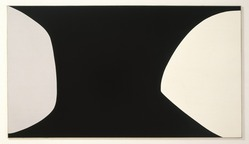 Leon Polk Smith (American, 1906-1996). Black Anthem, 1960. Oil on canvas, 72 x 120 in. (182.9 x 304.8 cm). Brooklyn Museum, Bequest of Leon Polk Smith, 2011.12.6. © artist or artist's estate