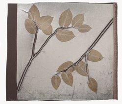 Aviva Stanoff (American, born 1972). Kohl Lemon Leaf on Cobble, 2011. Velvet, 22 x 25 in. (55.9 x 63.5 cm). Brooklyn Museum, Gift of the artist in memory of Ando Gakujo , 2011.19.15. © artist or artist's estate