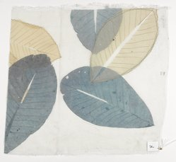 Aviva Stanoff (American, born 1972). Honeymoon Leaves, 1999. Silk organza, skeleton leaves, and stitching, 16 7/8 x 15 1/2 in. (42.9 x 39.4 cm). Brooklyn Museum, Gift of the artist in honor of Morimoto Taeko