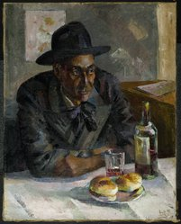 Loïs Mailou Jones (American, 1905-1998). Dans un Café à Paris (Leigh Whipper), 1939. Oil on canvas, 36 x 29 in. (91.4 x 73.7 cm). Brooklyn Museum, Brooklyn Museum Fund for African American Art and gift of Auldlyn Higgins Williams and E.T. Williams, Jr., 2012.1. © artist or artist's estate