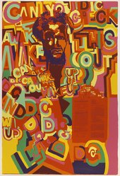 Gerald Williams (American, born 1941). Wake Up, 1971. Screenprint on paper, Sheet: 42 x 28 in. (106.7 x 71.1 cm). Brooklyn Museum, Gift of R.M. Atwater, Anna Wolfrom Dove, Alice Fiebiger, Joseph Fiebiger, Belle Campbell Harriss, and Emma L. Hyde, by exchange, Designated Purchase Fund, Mary Smith Dorward Fund, Dick S. Ramsay Fund, and  Carll H. de Silver Fund, 2012.80.44. © artist or artist's estate