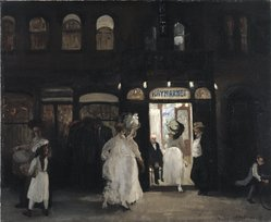 John Sloan (American, 1871-1951). The Haymarket, Sixth Avenue, 1907. Oil on canvas, 26 1/8 x 34 13/16 in. (66.3 x 88.5 cm). Brooklyn Museum, Gift of Mrs. Harry Payne Whitney