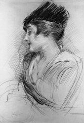 Paul-César Helleu (French, 1859-1927). Mrs. L. B.. Crayon drawing Brooklyn Museum, 23.94. © artist or artist's estate