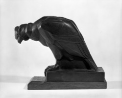 Eugene-Antoine Borga. Vulture. Bronze, Height: 6 1/2 in. (16.5 cm). Brooklyn Museum, Museum Collection Fund, 24.449.1