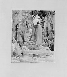 Paul Ludwig Gill (American, 1894-1938). Rue Djed Algiers, 20th century. Watercolor, Image: 11 5/16 x 9 7/16 in. (28.8 x 24 cm). Brooklyn Museum, Gift of Frank L. Babbott, 25.519