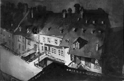 Loren Roberta Barton (American, 1893-1975). Night in Berne. Watercolor, 11 1/4 x 16 1/2 in. (28.5 x 41.9 cm). Brooklyn Museum, Museum Collection Fund, 27.200. © artist or artist's estate