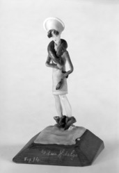 Luis Hidalgo (Mexican, born 1901). Figure of a Flapper on Snow, 20th century. Wax, 9 1/16 x 5 5/16 x 5 1/8 in. (23 x 13.5 x 13 cm). Brooklyn Museum, Museum Collection Fund, 27.656. © artist or artist's estate