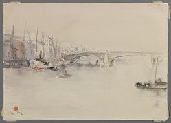 Ishii Kowhoo (Japanese). London Bridge. Watercolor, 14 1/4 x 9 7/8 in.  (36.2 x 25.1 cm). Brooklyn Museum, Gift of Mr. and Mrs. Takeshi Kanno, 29.1303. © artist or artist's estate