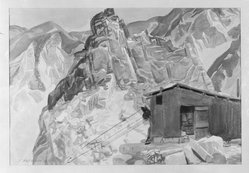 J. Olaf Olson (American, 1894-1950). High Quarries, 1929. Watercolor over graphite on paper, 15 1/2 x 22 5/16 in. (39.4 x 56.7 cm). Brooklyn Museum, Gift of Alfred W. Jenkins, 29.1392. © artist or artist's estate