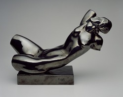 Alexander Archipenko (American, born Ukraine, 1887-1964). Reclining Torso, 1922. Glazed ceramic, 14 1/2 x 21 1/4 x 8 1/4 in. (36.8 x 54 x 21 cm). Brooklyn Museum, Robert B. Woodward Memorial Fund, 30.1107. © artist or artist's estate