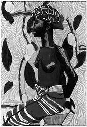 Susan Frazier (American, born 1900). North African Woman (Mumza?), 1929. Gouache, 20 3/16 x 15 1/16 in. (51.2 x 38.2 cm). Brooklyn Museum, John B. Woodward Memorial Fund, 30.16. © artist or artist's estate
