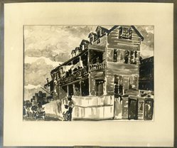 Emily Lansingh Muir (American, 1904-2003). Negro Tenement, ca. 1928-1929. Watercolor, 14 3/4 x 21 in. (37.5 x 53.3 cm). Brooklyn Museum, Museum Collection Fund, 31.138. © artist or artist's estate
