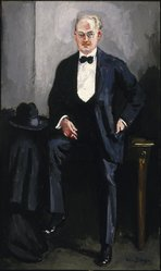 Kees van Dongen (French, born Netherlands, 1877-1968). Portrait of W. S. Davenport, ca. 1925. Oil on canvas, 86 11/16 x 51 9/16 in. (220.2 x 131 cm). Brooklyn Museum, Gift of Mr. and Mrs. William Slocum Davenport, 32.117. © artist or artist's estate