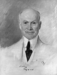 Emil Fuchs (American, 1866-1929). Judge Elbert E.H. Gary, 1926. Oil on canvas, 31 1/2 x 39 1/4 in. (80 x 99.7 cm). Brooklyn Museum, Gift of the Estate of Emil Fuchs, 32.199.184. © artist or artist's estate